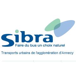 Logo de la Sibra, transports urbains de l'agglomération annécienne